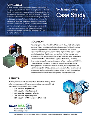 Settlement Project Case Study