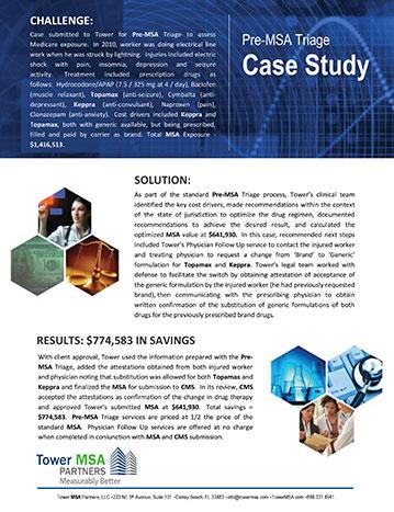 Pre-MSA Triage Case Study